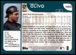2001 Topps Traded #165 T Miguel Olivo  Back Thumbnail