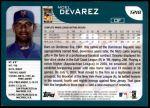 2001 Topps Traded #218 T Noel Devarez  Back Thumbnail