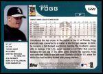 2001 Topps Traded #221 T Josh Fogg  Back Thumbnail