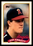 1989 Topps Traded #2 T Jim Abbott  Front Thumbnail