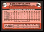 1989 Topps Traded #23 T Mike Devereaux  Back Thumbnail