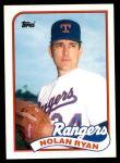1989 Topps Traded #106 T Nolan Ryan  Front Thumbnail