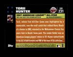 2007 Topps Update #231  Torii Hunter  Back Thumbnail
