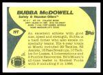 1989 Topps Traded #19 T Bubba McDowell  Back Thumbnail