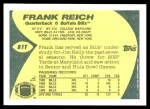 1989 Topps Traded #81 T Frank Reich  Back Thumbnail