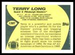 1989 Topps Traded #128 T Terry Long  Back Thumbnail