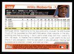 2004 Topps #105  Willis Roberts  Back Thumbnail