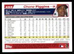 2004 Topps #452  Chone Figgins  Back Thumbnail