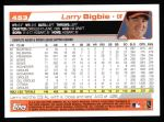 2004 Topps #453  Larry Bigbie  Back Thumbnail