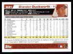 2004 Topps #521  Brandon Duckworth  Back Thumbnail