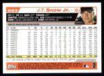 2004 Topps #523  J.T. Snow  Back Thumbnail