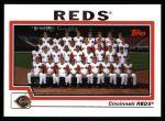 2004 Topps #645   Cincinnati Reds Team Front Thumbnail