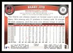 2011 Topps #22  Barry Zito  Back Thumbnail