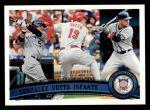 2011 Topps #134   -  Carlos Gonzalez / Joey Votto / Omar Infante NL Batting Leaders Front Thumbnail