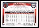 2011 Topps #209  Carlos Santana  Back Thumbnail