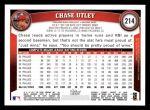 2011 Topps #214  Chase Utley  Back Thumbnail