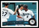 2011 Topps #361   Marlins Team Front Thumbnail