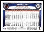 2011 Topps #382  Travis Snider  Back Thumbnail