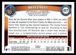 2011 Topps #427  Brad Emaus  Back Thumbnail