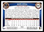 2011 Topps #497  Alex Avila  Back Thumbnail