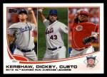 2013 Topps #81   -  Clayton Kershaw / Johnny Cueto / R.A. Dickey  NL ERA Leaders Front Thumbnail