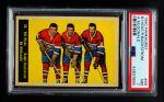 1960 Parkhurst #56  Hicke / McDonald / Backstrom  Front Thumbnail