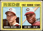 1967 Topps #222   -  Lee May / Darrell Osteen Reds Rookies Front Thumbnail