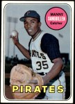 1969 Topps #509  Manny Sanguillen  Front Thumbnail