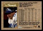1996 Topps #358  Jay Novacek  Back Thumbnail