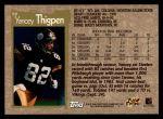 1996 Topps #98  Yancey Thigpen  Back Thumbnail