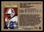 1996 Topps #174  Anthony Cook  Back Thumbnail