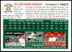1954 Topps Archives #62  Eddie Robinson  Back Thumbnail