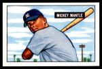 1951 Bowman REPRINT #253  Mickey Mantle  Front Thumbnail