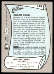 1989 Pacific Legends #145  Roger Craig  Back Thumbnail