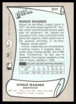 1989 Pacific Legends #211  Honus Wagner  Back Thumbnail
