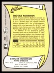 1988 Pacific Legends #3  Brooks Robinson  Back Thumbnail