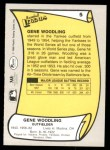 1988 Pacific Legends #5  Gene Woodling  Back Thumbnail