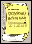 1988 Pacific Legends #33  Don Newcombe  Back Thumbnail