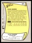 1988 Pacific Legends #55  Duke Snider  Back Thumbnail