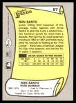 1988 Pacific Legends #97  Ron Santo  Back Thumbnail