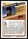 1993 Topps Traded #63 T Damon Buford  Back Thumbnail