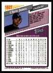1993 Topps Traded #102 T Chris Jones  Back Thumbnail