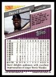 1993 Topps Traded #126 T Daryl Boston  Back Thumbnail
