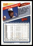1993 Topps Traded #114 T Dave Stewart  Back Thumbnail