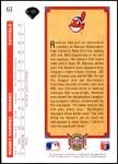 1992 Upper Deck #63  Manny Ramirez  Back Thumbnail