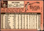 1969 Topps #329  Rick Joseph  Back Thumbnail