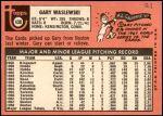 1969 Topps #438  Gary Waslewski  Back Thumbnail
