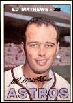 1967 Topps #166  Eddie Mathews  Front Thumbnail
