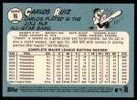 2014 Topps Heritage #16  Carlos Ruiz  Back Thumbnail