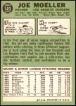 1967 Topps #149 xWHT Joe Moeller  Back Thumbnail